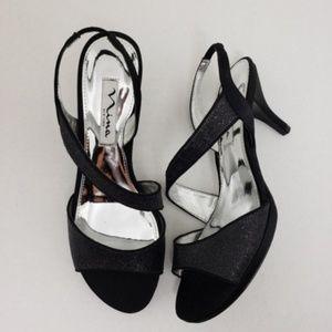 Nina New York Open Toe Formal Slingback Heels 6.5M